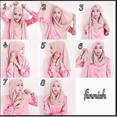 tutorial hijab pesta ala artis