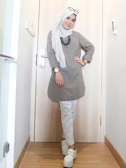 baju hijab simple modern