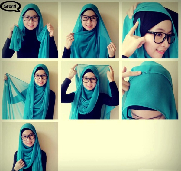 tutorial hijab pashmina simple dian pelangi