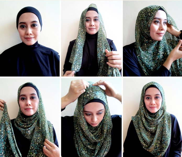 tutorial hijab pashmina simple untuk pesta